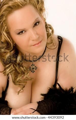 sexy curvy woman,BBW - stock photo