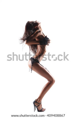 Sexy dancing woman - stock photo