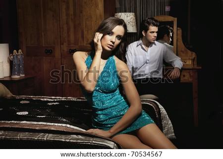 Sexy elegance couple - stock photo