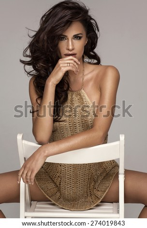 Sexy fashion woman  - stock photo