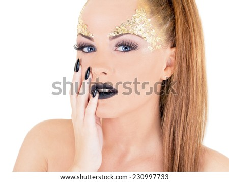 Sexy glamor woman - stock photo