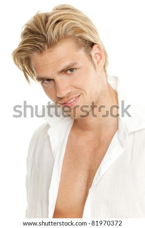 sexy man - stock photo