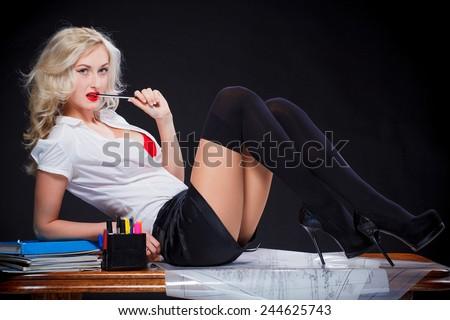 sexy teacher - stock photo