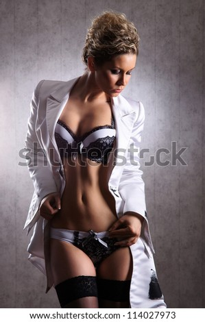 Sexy woman in nice lingerie - stock photo