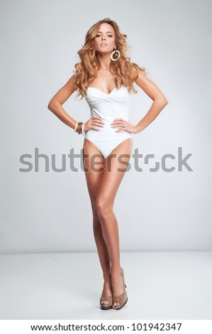 Sexy woman in swimsuit - stock photo
