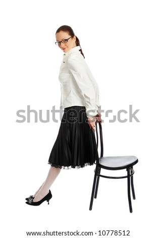 sexy woman isolated on white - stock photo