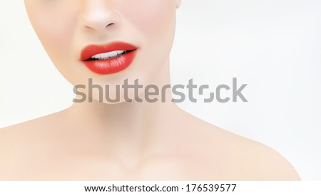 Sexy woman lips - stock photo