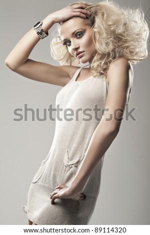 Sexy woman posing - stock photo