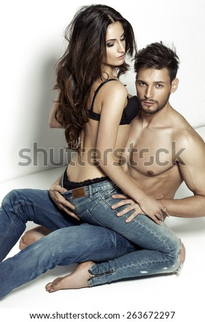 Sexy young couple  - stock photo