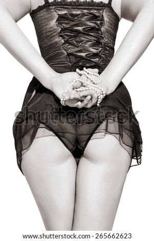 sexy young woman back  - stock photo