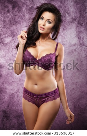 Sexy young woman in lingerie. - stock photo