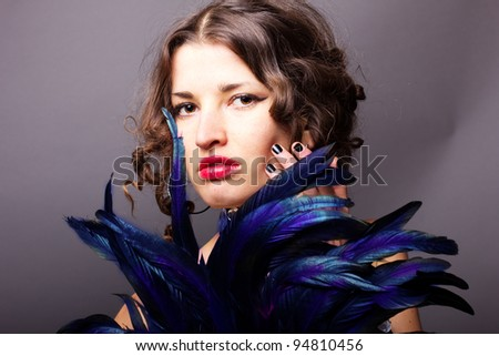 Sexy young woman  with mask - stock photo