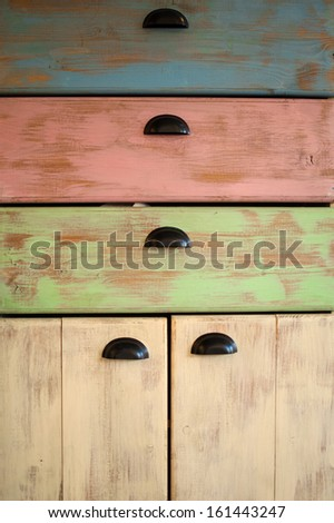 Shabby chic cupboard - stock photo