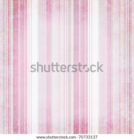 Shabby textile Background with colorful pink and white stripes - stock photo
