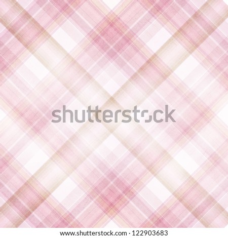 Shabby textile plaid Background with colorful beige, pink and white stripes - stock photo