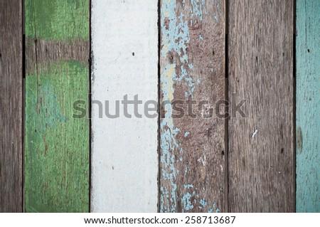 Shabby Wood Background - stock photo