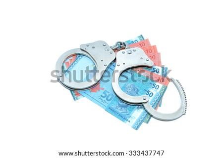 Shackle with Malaysian banknotes. - stock photo