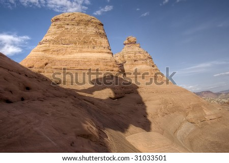 Shadow, Delicate Arch, Arches National Park - stock photo