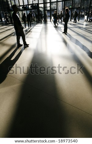 shadow person - stock photo