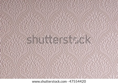 Shaggy surface of white wallpaper - stock photo