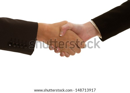 shake hands isolated - stock photo
