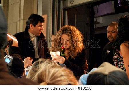SHAKIRA in Toronto, at MUCH MUSIC signing autographs. (Dec. 13, 2005) - stock photo