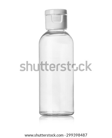 Shampoo, Gel Or Lotion Plastic Bottle On White Background Isolated. Ready For Your Design.with clipping path  - stock photo
