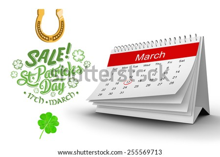 Shamrock against st patricks day sale ad - stock photo