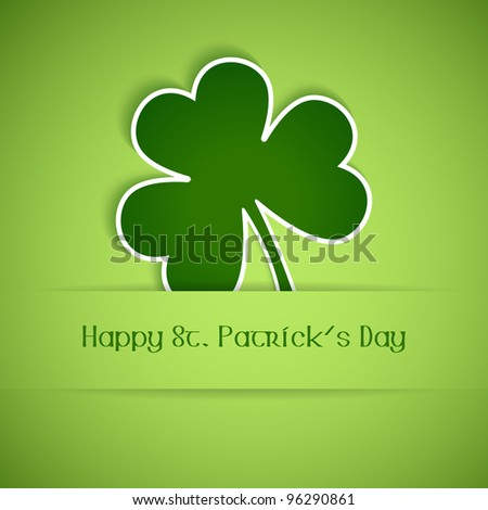 Shamrock, clover design, perfect for St. Patrick's Day. Vector available in my port. - stock photo