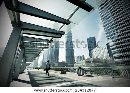 Shanghai's high-rise buildings, an international financial center. - stock photo