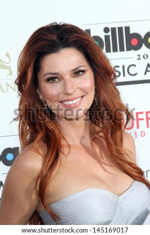 Shania Twain at the 2013 Billboard Music Awards Arrivals, MGM Grand, Las Vegas, NV 05-19-13 - stock photo
