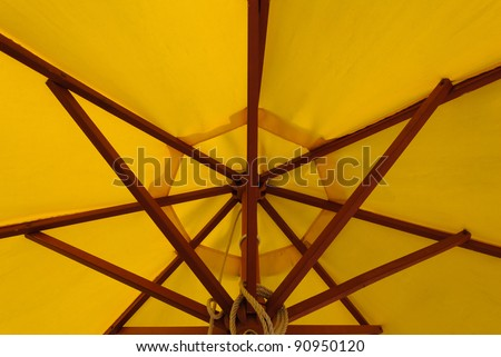 Shape and structure of patio umbrella - stock photo