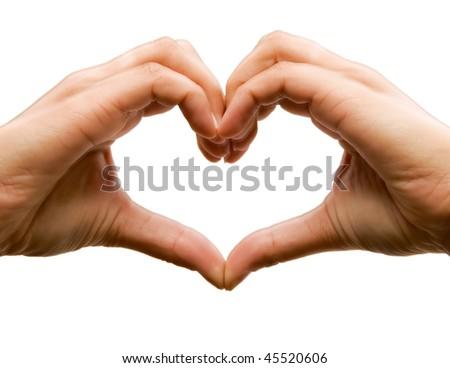 Shape of my heart - stock photo