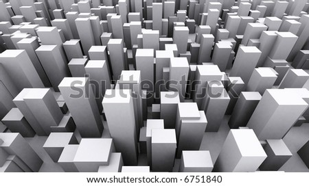 Shapes of a city abstract - stock photo