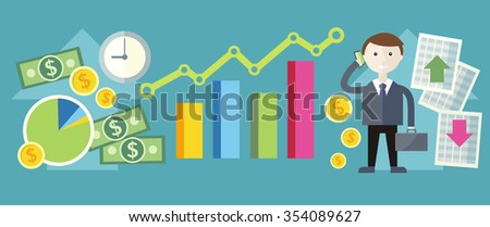 Share price exchange concept design. Business finance, stock money, currency market, chart investment, financial graph, trade analysis, data sell, broker and economic, inves. Raster version - stock photo