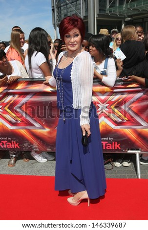Sharon Osbourne at The X Factor auditions held at Wembley arena, London. 15/07/2013  - stock photo