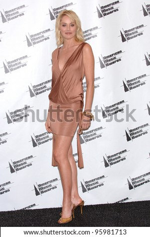 SHARON STONE at the 2006 American Music Awards at the Shrine Auditorium, Los Angeles. November 21, 2006  Los Angeles, CA Picture: Paul Smith / Featureflash - stock photo