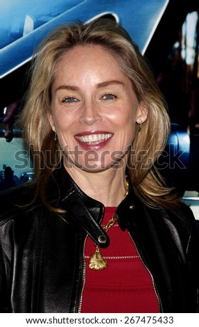 Sharon Stone at the HBO's 'His Way' Los Angeles Premiere held at the Paramount Studios lot in Hollywood on March 22, 2011.  - stock photo