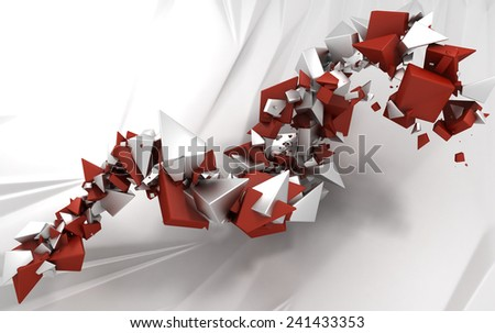 Sharp Abstract Particles Background - stock photo