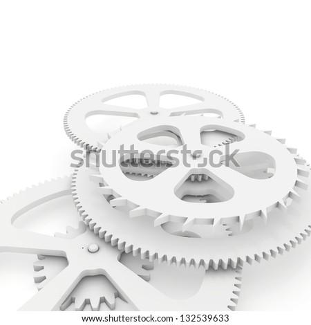 sharp gear - stock photo
