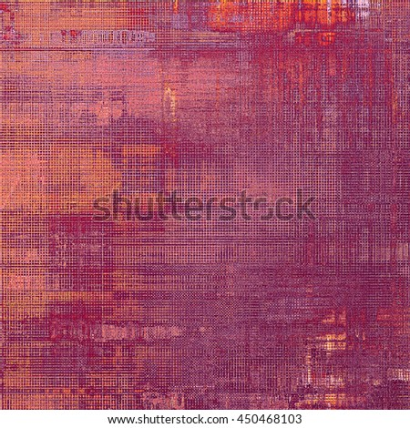 Sharp textured background, aged vintage backdrop with grungy style elements and different color patterns: yellow (beige); brown; gray; black; red (orange) - stock photo