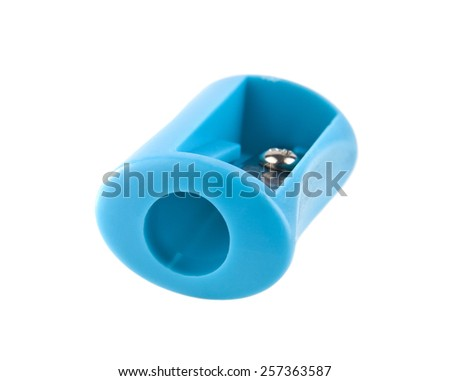 sharpener on a white background - stock photo