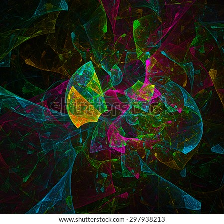 Shattered World abstract illustration - stock photo