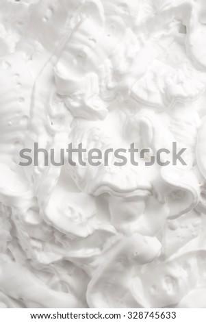 Shaving foam texture - stock photo