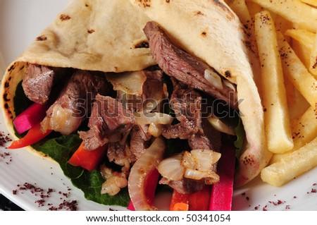 Shawarma. - stock photo