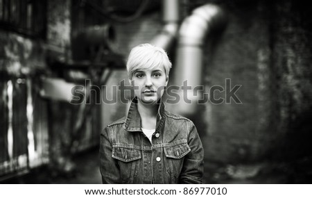 she is strong - stock photo