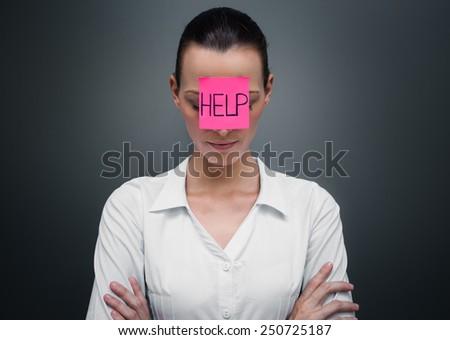 She needs help!  - stock photo