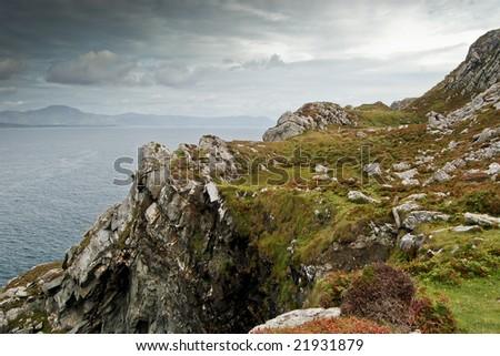 sheep head loop walk, ireland - stock photo