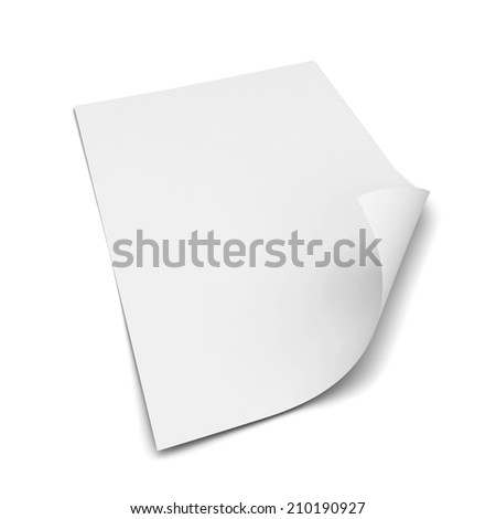 Sheet of a4 paper. 3d illustration isolated on white background  - stock photo