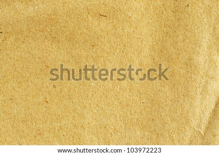 Sheet of brown paper for background - stock photo